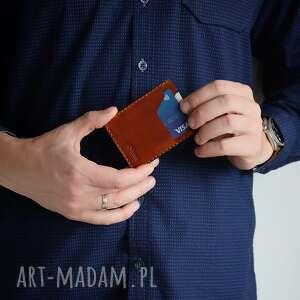 wildleather minimalistyczny portfel skórzany męski, ręcznie szyty porfel, męski
