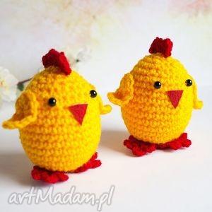 grafika 2 kurczaczki wielkanocne, kurczak, kurczaczek, wielkanoc, pisanka