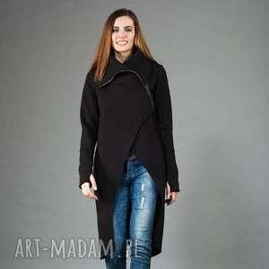 Bluza płaszcz Asmi ze stójką , płaszcz, bluza, dzianina, na-zamek, długi,