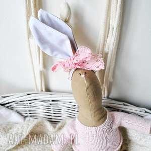 maskotki pani królik, lalka, szmaciana, urodziny, prezent, dziewczynki, chrzciny