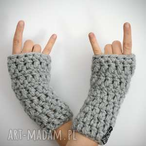 ręcznie wykonane rękawiczki mitenki 04