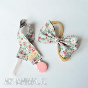 handmade dla dziecka zawieszka do smoczka opaska włosów