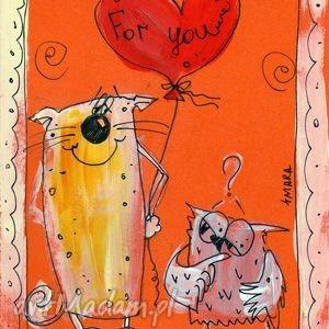 Walentynka - 2, kartka, okolicznościowa, walentynki, miłość, prezent, 4mara
