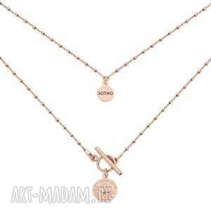 hand-made naszyjniki naszyjnik z monetą z różowego złota