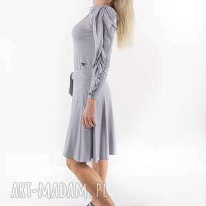 sukienka paryżanka szara, spódnica, bluza, kombinezon, sukienka, bluzka