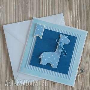 scrapbooking kartki kartka z żyrafą do personalizacji, urodziny, żyrafa