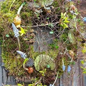 wianek wielkanocny wiosenny na drzwi, wielkanoc, wielkanocny, dekoracja