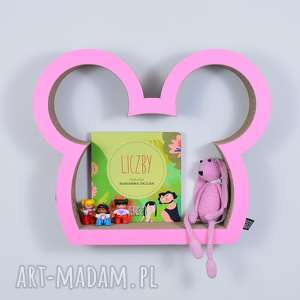 pokoik dziecka półka na książki zabawki myszka ecoono różowy, półka, chłopiec