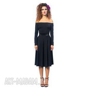 ursula - sukienka, wygodna, minimalistyczna, midi