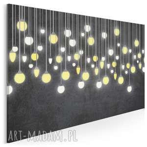 obraz na płótnie - światło żarówki 120x80 cm 56501, żarówka
