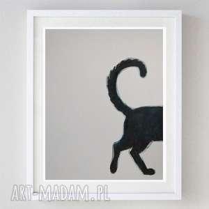 KOTEK-akwarela formatu A4, kot, abstrakcja, akwarela