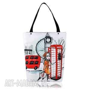 TOREBKA SHOPPERKA 1308 LONDON, grafika, shopping, pojemna, zakupy, duża