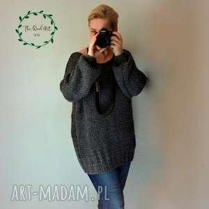 duży sewter universal size, sweter, pulower, wełniany, nadrutach
