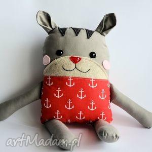 kotek tulikotek - krzyś 40 cm, kotek, tulikotek, marynarz, morze, maskotka