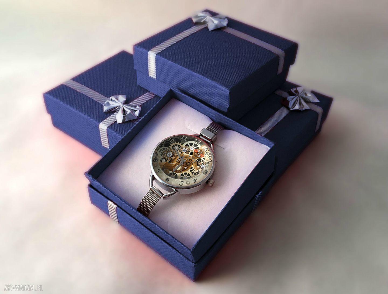 zegarki steampunk mechaniczna jaszczurka - zegarek