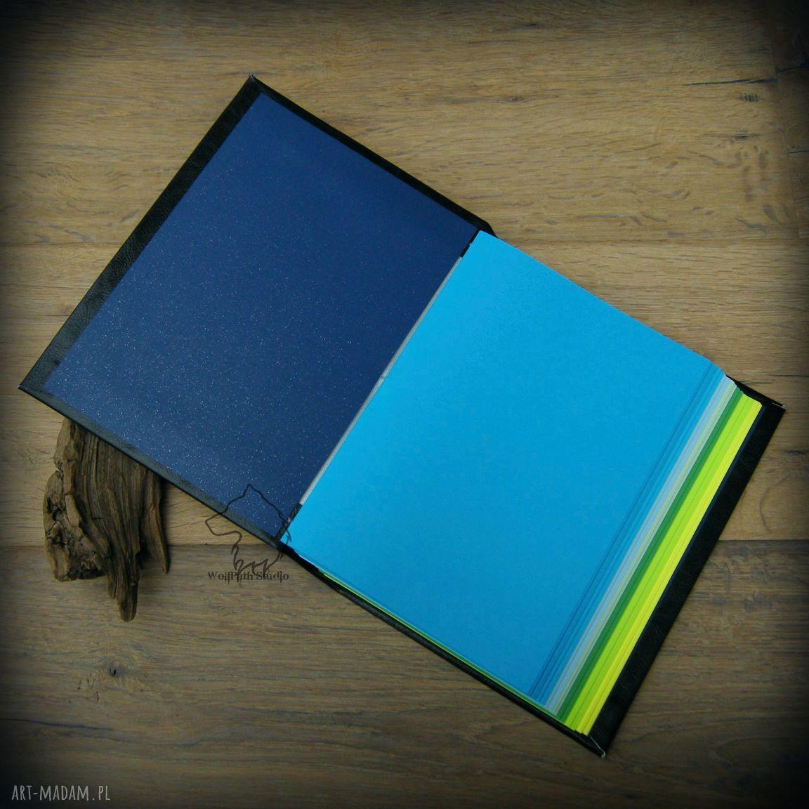 zielone notesy notatnik notes a5 z twardą okładką