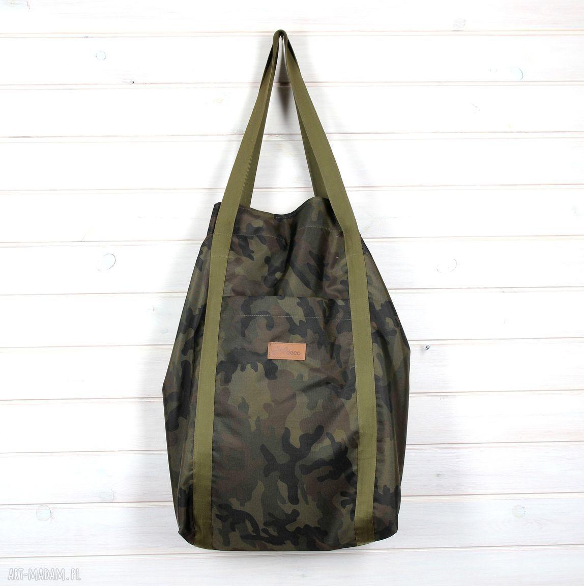hand-made na ramię pojemna torba moro xxl