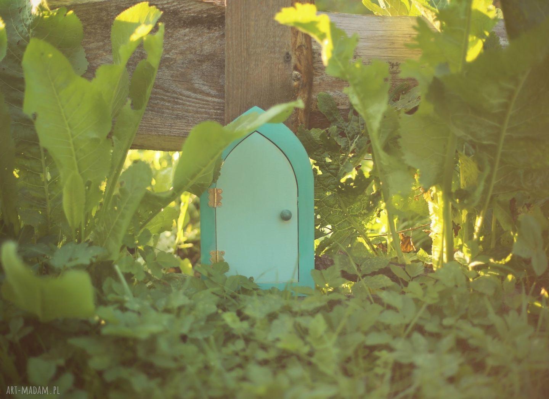 ręcznie robione zabawki magiczna bajka - szmaragdowy elf i drzwi wróżek