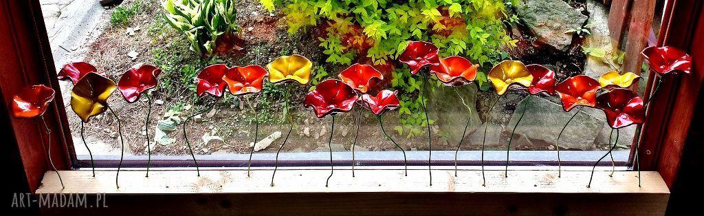 drucik ceramika ceramiczne kwiaty na druciku