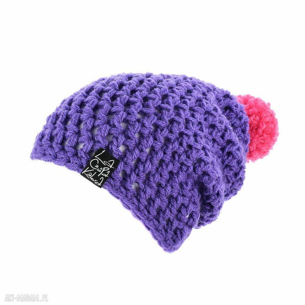 fioletowe czapki czapka hellove 41