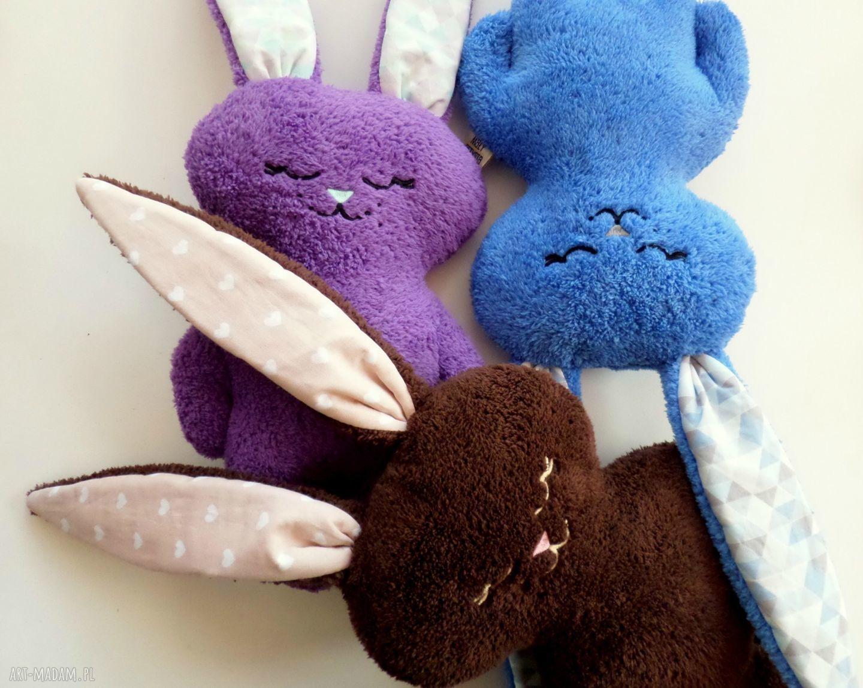 handmade maskotki królik luluś brązowy