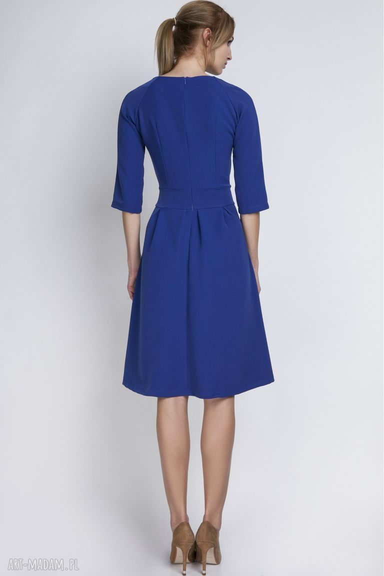 sukienki kieszenie sukienka, suk122 indygo