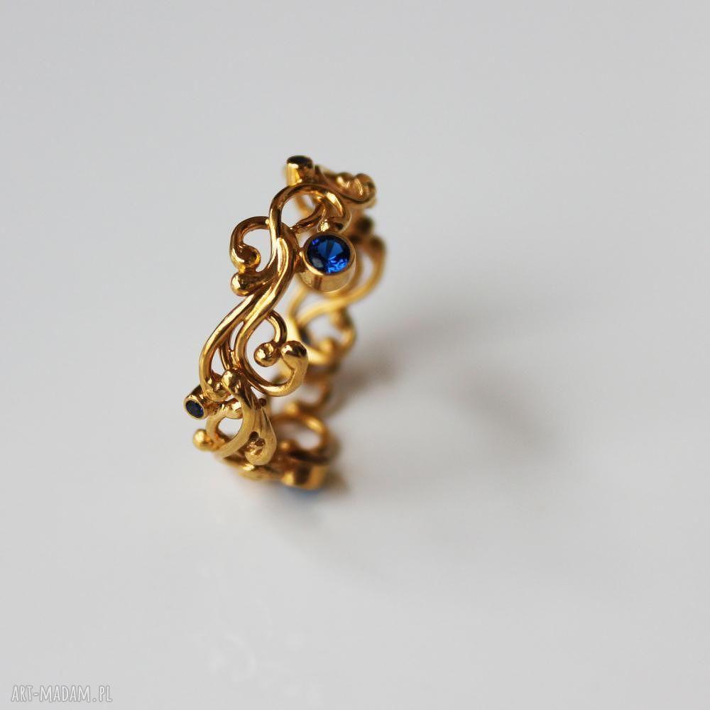 handmade pierścionki złota szarfa