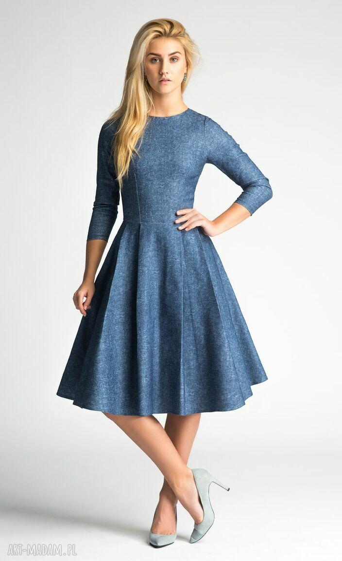 sukienki kieszenie sukienka zuza midi denim