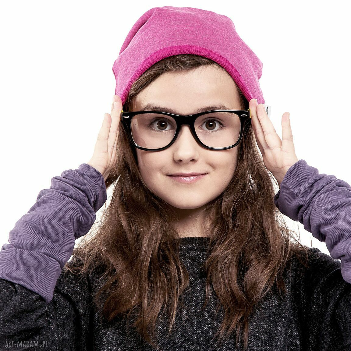 fuksjowa ubranka fioletowe wygodna i praktyczna czapka