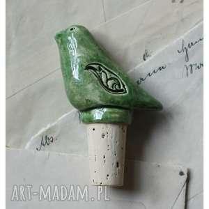 prezent święta Korek do wina zielony, ceramika, korek, ptak