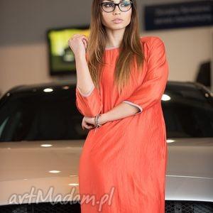 sukienki sukienka semplice - arancione, sukienka, uroczystość, prosta, wygodnie