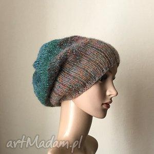 Prezent Jesienny las czapa, czapka, rękodzieło, zima, prezent