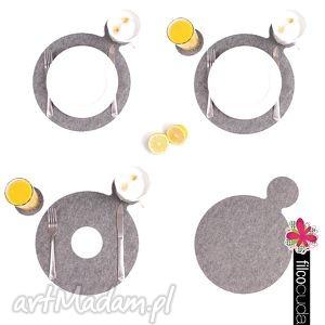 podkładki filcowe lemoncard 4 szt, podkładka, filcowa, podkładki