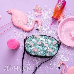 taszka ovum touch 1075 flamingi, torebka, moda, printy, okrągła