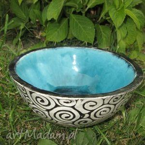 miska ceramiczna turkus, misa, miseczka, turkusowa, ceramika, grecka