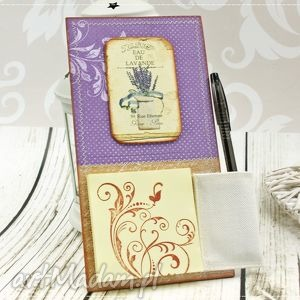 Notes na lodówkę- lawendowy dzban, notes, magnes, na, lodówkę, lawenda