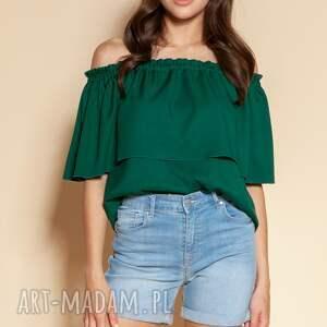 bluzka z odkrytymi ramionami/hiszpanka - blu153 zielony, hiszpanka