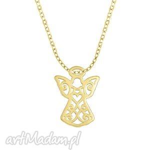 celebrate - angel - necklace g - ,aniołek,łańcuszek,celebrytka,