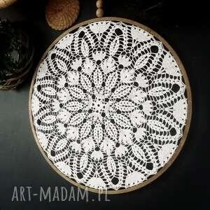 handmade dekoracje duży łapacz biały
