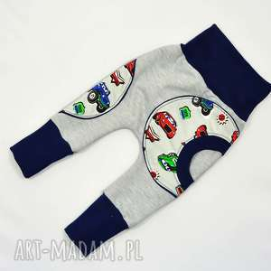 auta legginsy, spodnie, baggy dla chłopca, niemowląt, bawełniane, 62-104, spodnie
