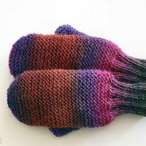 wełniane rękawiczki, jednopalczaste, z jednym palcem