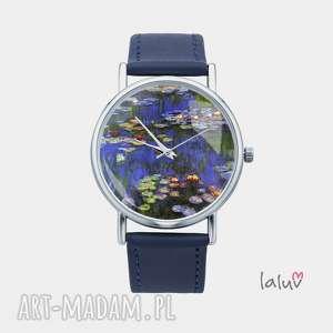 Zegarek z grafiką LILIE WODNE - ,monet,obraz,reprodukcja,sztuka,prezent,rośliny,
