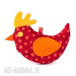 dekoracje wiosenny czerwony ptaszek w kropki, ptaszek, wiosna, wielkanoc, ozdoba