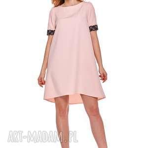 mama i córka trapezowa sukienka z koronką dla mamy lm12/3, koronka, rozkloszowana
