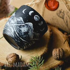 piękny kubek z plenerem gór, wyjątkowy kubek, porcelana do kawy, milośnik