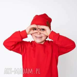 wyjątkowy prezent, bluza dresowa czerwona, basic, gładka