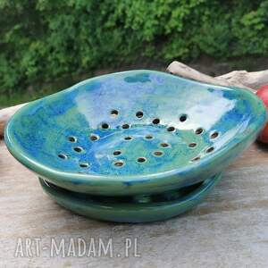 ceramika misa na owoce c268, misa, owoce, ceramika, durszlak, ceramiczna