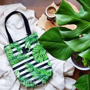 na ramię torba monstera liście, torba, monstera, wodoodporna, prezent