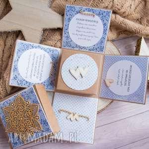 wyjątkowe pudełeczko ślubne dla młodej pary prezent ślubny weselny