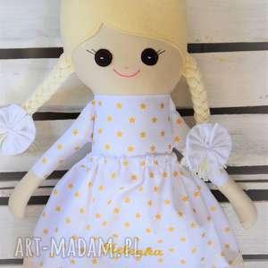 ręcznie zrobione lalki szmacianka lalka na chrzest święty perosnalizacja
